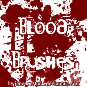 blood brush photoshop, membuat cover fanfiction