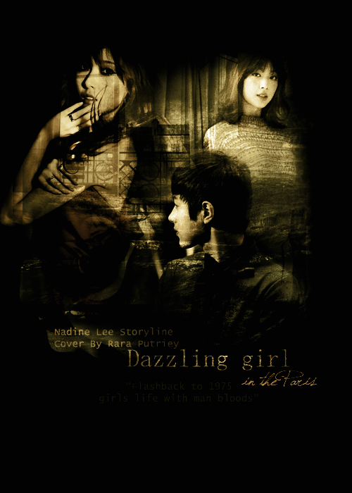 Dazzling girl in the paris
