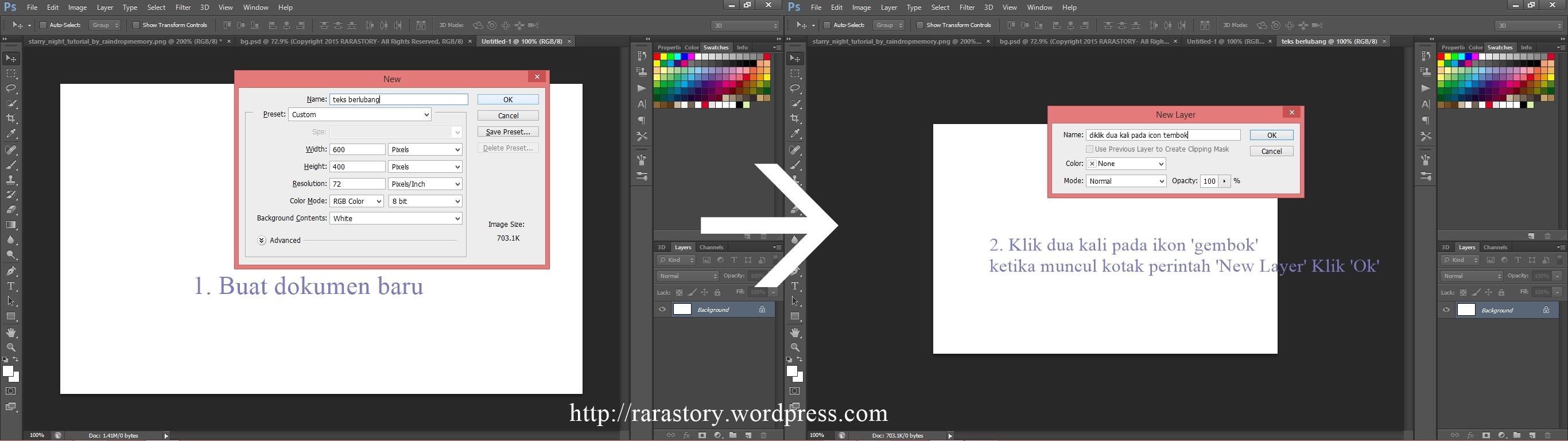 Tutorial photoshop membuat teks berlubang rara story step 1 tutorial membuat teks berlubang dengan photoshop baditri Choice Image