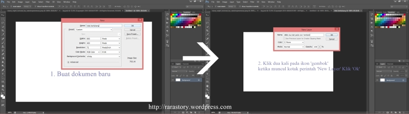 step 1 tutorial membuat teks berlubang dengan photoshop